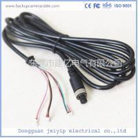 China 7 Pin 3 Terminal Extension Cable For Security Cameras , Black PVC Material wholesale