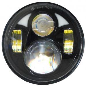 "China Round Jeep Wrangler Jk Led Headlight 7"" Moto Led Projector Headlamp  7"" 80w wholesale"