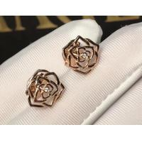 China Piaget brand jewelry 18kt  Rose earrings in 18K rose gold set with 2 brilliant-cut diamonds (approx. 0.01 ct). wholesale