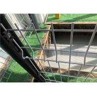 China Eco Friendly 3D Bending Triangle Fence Panel For Courtyard Dark White Color wholesale