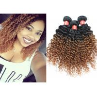 China Highlighted Deep Curly Wavy Ombre Hair Extensions For Black Women wholesale