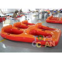 China 5 Person Donut Boat Inflatable Water Towable Tube Ski Boat For Jet Ski Water Fun wholesale