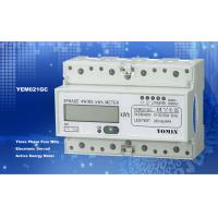 Buy cheap Ligth Weight 35mm Din Rail Three Phase Energy Meter / Digital Meter Direct Mode With PC Material from wholesalers