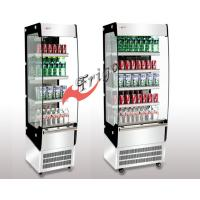 Buy cheap Curved Glass Slim Open Refrigerated Display Case 3 Shelves With LED Light from wholesalers