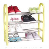 China 4 Tier 12 Pair Shoe Storage Racks / Shelves with Yellow, Blue, Pink JP-SR104 wholesale