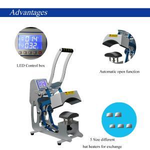 China CE RoHS 110 V Combo Heat Press Machine 50 - 60 HZ 500 Watt For Modern DIY Cap / Hat wholesale