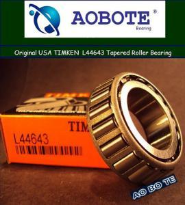 China Radial Load Timken Taper Roller Bearings L44643 / L44610 , Roller Contact Bearing wholesale