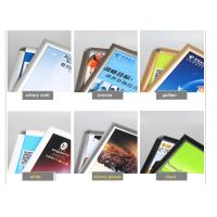 China Wall Mounted Black Poster Picture Frames, Waterproof Silver Clip Frames For Exhibition wholesale