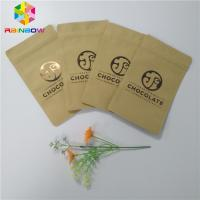 China Three Side Sealed Kraft Customized Paper Bags Foil Lined Organic Roasted Coffee Packing on sale