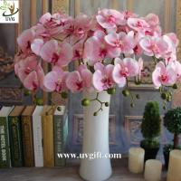 China UVG Colorful artificial flower wholesale with plastic orchid for wedding table decoration on sale