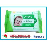 China Skin Care Natural Baby Wipes No Chemicals White 10pcs Package 50gsm Weight wholesale