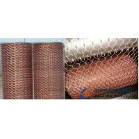 Buy cheap Brass/Copper Hexagonal Wire Mesh, Mainly Used as Decorative Mesh from wholesalers