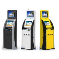 Quality Airport / Bank / Hospital Dual Screen Kiosk Ticket Vending Kiosk With Vertical Ad Display for sale