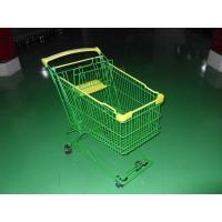 China Colored Coated Wicker Shopping Trolley with curved plastic handle wholesale