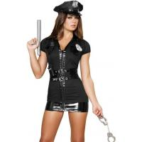 China High Quality Halloween Sexy Police Costumes Naughty Patrol Police Officer Costume wholesale
