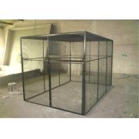 China outdoor welded mesh parrot/birds aviary house black powder coated big aviary cage for sale wholesale