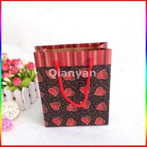 China flat handle kraft paper bag,paper bags with flat handle,flat paper handle bags wholesale