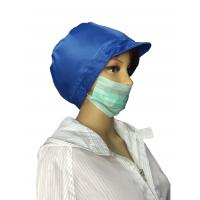 China Breathable Re Useable ESD Safe Clothing ESD Hat 5x5 cm Top Mesh Window on sale