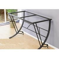 Buy cheap Desktop Learning Glass Office Desk , Basic Computer Workstation Table For Small Spaces from wholesalers