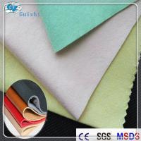 China Cross Lapping Faux / Imitation / Synthetic Leather Fabric 80GSM - 300GSM wholesale