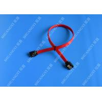 China 26 AWG SATA III 6.0 Gbps Female to Female SATA Data Cable , Red HDD SATA Cable 7 Pin wholesale