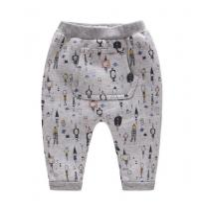 China Spring Autumn Children Garments Brushed Fleece Harem Pants With Kangaroo Pocket wholesale