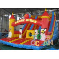 China Kids​ Outdoor Amusement Park Inflatable Angry Birds Bouncer With Double Inflatable Slides wholesale