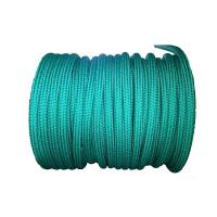 China 72mm X 220 Meters Double Braid Polypropylene Rope Green Shock Absorbing wholesale