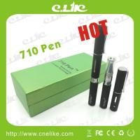 China Hot E-cigarette 710 Pen Wax Atomizer Burn Wax and Dry Herb with Lcd Battery wholesale