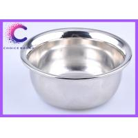China Traditional large metal shaving bowl , shave cream bowl chrome plating wholesale
