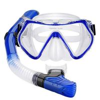 China One Piece Adult Diving Mask and Full Dry Snorkel Breathing Tube Set wholesale