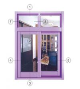 China Purple Two Panels Glass Aluminium Sliding Windows Replacement  Waterproof wholesale