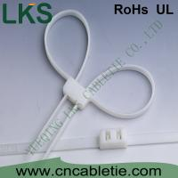 China Handcuffs type double nylon cable ties wholesale