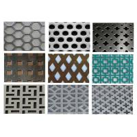 China Punching Square Hexagonal Perforated Sheet 3003 H14 For Acoustic Wall Panels wholesale