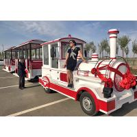 China 72 Seat Excursion Trackless Train Ride 4m×1.65m×2.5m Train Head wholesale