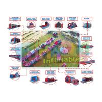 Buy cheap Giant Adult Inflatables Obstacle Course Indoor Playground Equipment from wholesalers