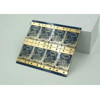 China 6 Layer High Frequency, Material HDI PCB Blue Solder Mask  BGA wholesale