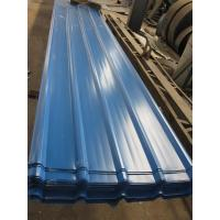 China 1500 - 3800mm Length JIS G3322 CGLCC, ASTM A792 Prepainted Corrugated Steel Roof Sheets wholesale