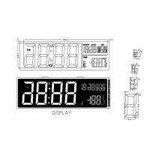 China Pin Connector HTN LCD Screen LCD Digit Calendar Clock Display wholesale