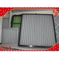 China (24x24x2 inch) 595x595x46mm ABS plastic frame synthetic fiber washable pleat air filter wholesale