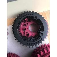 China Red / Black Anodized CNC Machining Parts for Bicycle Accessories / Toothed Wheel wholesale