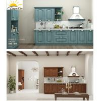 China Eco - Friendly All Wood Kitchen Cabinets , Jane Overall Wooden European Kitchen Cabinets wholesale