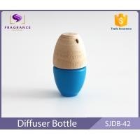 Customized Mini 5ml Fragrance Car Diffuser Bottle Blue With Wood Cap