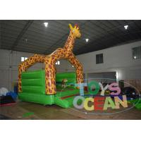 China Giraffe Jungle Theme Inflatable Jumping Bouncer For Party Rental Using CE wholesale