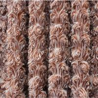 Wholesale Customized Plush Faux Fur Fabric , Swirl Fur Fabric Weight 200-400gsm from china suppliers