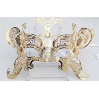 """China Venice Mask Metal Mask with Swarovski crystals   9.5""""PF008D wholesale"""