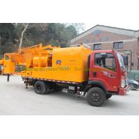 China 300L Oil Tank Cement Pumping Machine , Truck Mounted Concrete Pump With Batcher wholesale