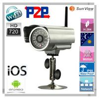 China 1.0 Megapixel Plug and Play outdoor Waterproof IP Camera wireless wifi H.264 support sd on sale