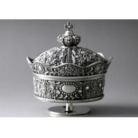 China European Crown Design Metal Decorations Crafts , Clockwork Classic Music Box wholesale