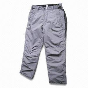 China Ski Pants with Polyester Lining and Padding wholesale